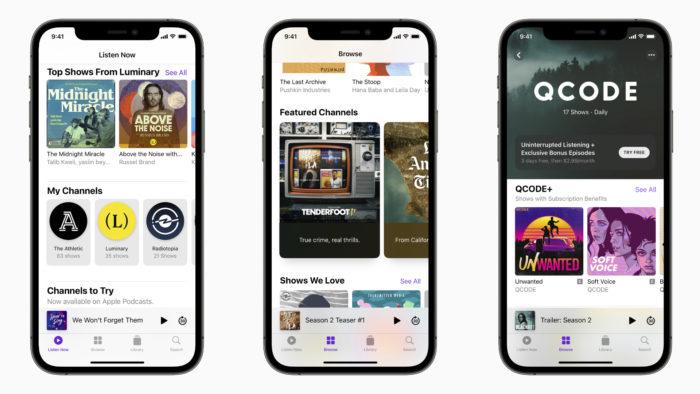 Canais do Apple Podcasts (Imagem: Divulgação/Apple)