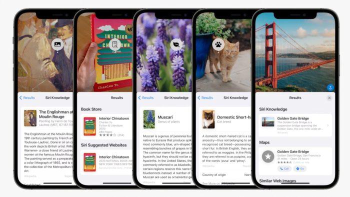 iOS 15 permite consultar texto em fotos (Imagem: Divulgação / Apple)