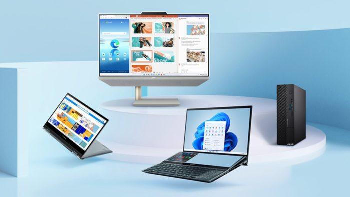PCs da Asus com Windows 11 (Imagem: Divulgação)
