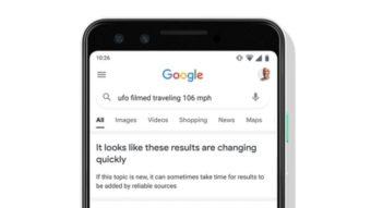 Google passa a avisar se resultados na busca ainda não forem confiáveis