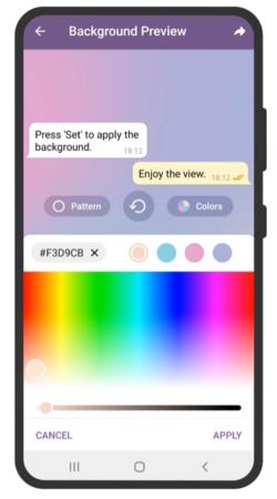 Papel de parede animado no Telegram pode ser personalizado pelo usuário (Imagem: Divulgação)