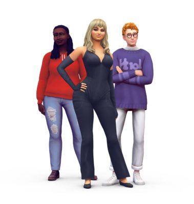 Joy Oladokun, Bebe Rexha e Dave Bayley de Glass Animals em The Sims 4 (Imagem: Divulgação/EA)