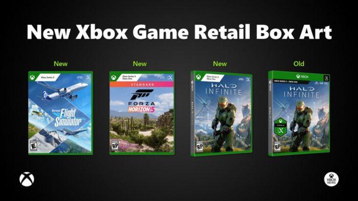 Novo design das caixas do Xbox (Imagem: Reprodução)