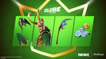 Loki chega ao Clube Fortnite em julho com skin e itens para assinantes