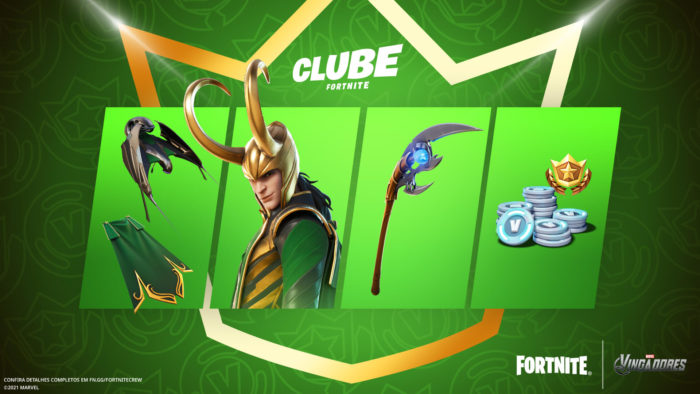 Loki chega ao Clube Fortnite em julho (Imagem: Divulgação/Epic Games)