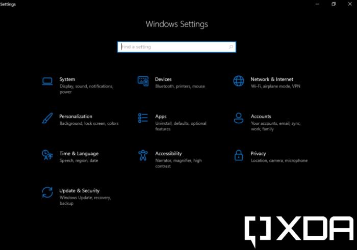 Configurações no Windows 11 SE (Imagem: Reprodução/XDA Developers)