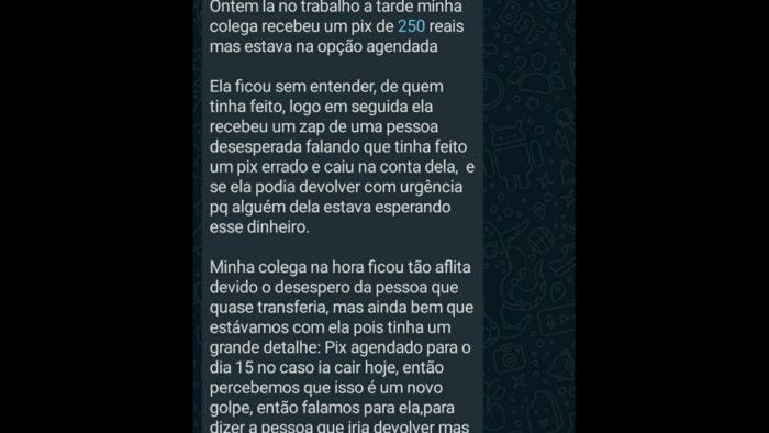 Corrente de WhatsApp recebida por usuários no Twitter (Imagem: @deolhoembelempa/Twitter)