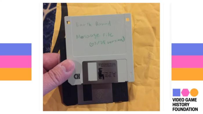 Disquete de Earthbound (Imagem: Divulgação/Video Game History Foundation)