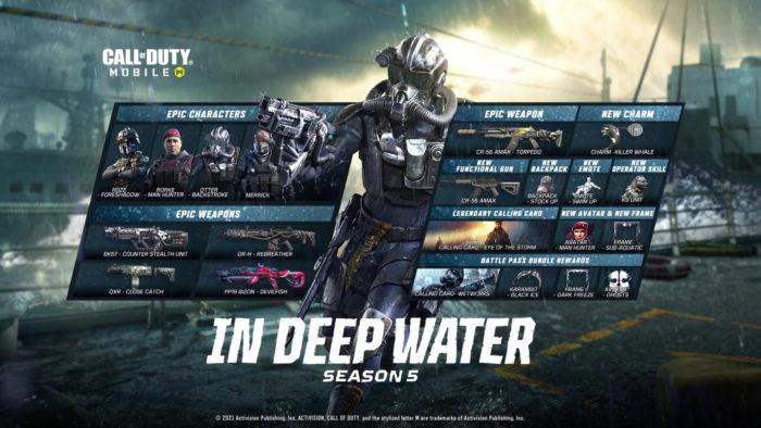 """Temporada 5 de Call of Duty Mobile se chama """"Em Águas Profundas"""" (Imagem: Divulgação/Activision)"""