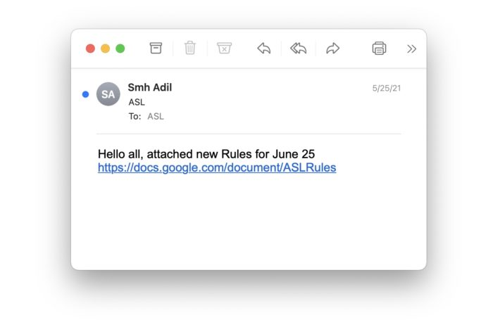 E-mail com link para o Google Docs (imagem: Avanan)