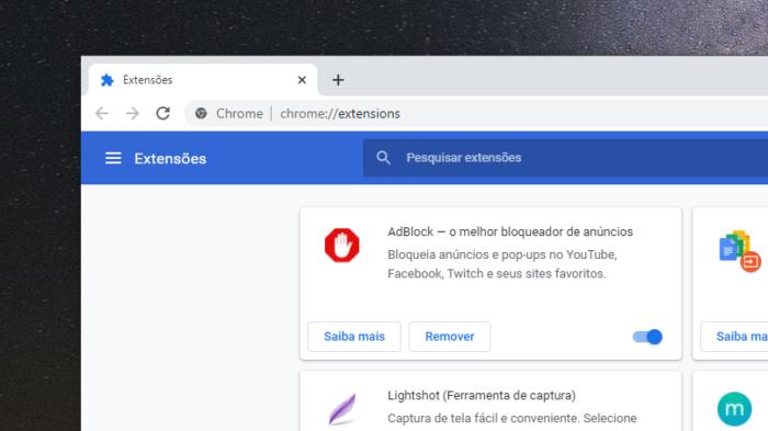 Extensões do Chrome (Imagem: Reprodução/Google)