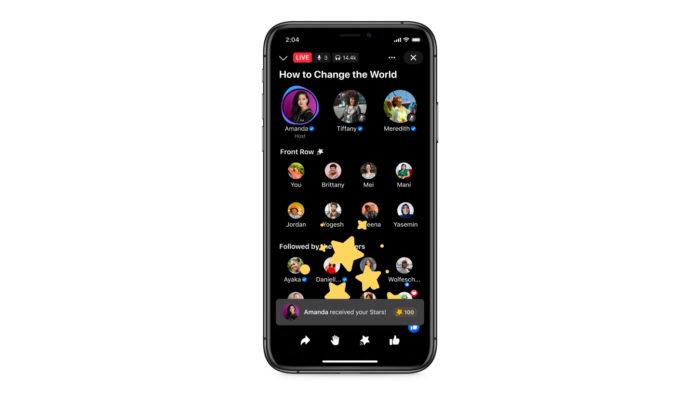 Seguidores podem comprar e enviar estrelas para contas que usam live de áudio (Imagem: Facebook/ Divulgação)