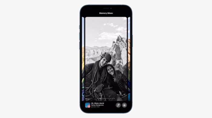 Novo Memórias está mais inteligente e sugere filtros (Imagem: Reprodução/Apple)
