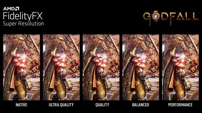 Os vários modos de funcionamento do FSR (imagem: divulgação/AMD)