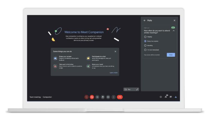 Companion Mode no Google Meet (Imagem: reprodução/Google)