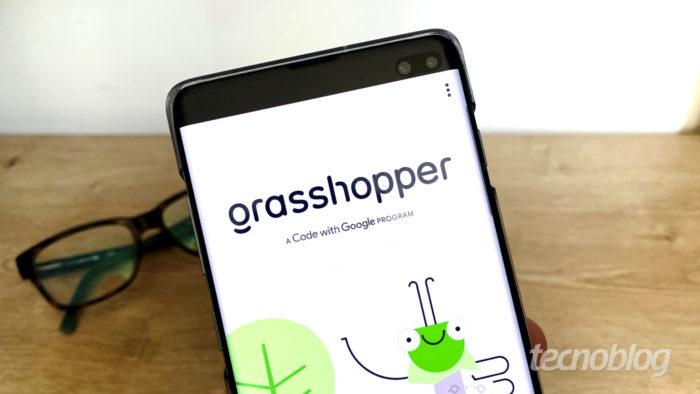Grasshopper é um aplicativo do Google que ensina programação de graça (Imagem: Bruno Gall De Blasi/Tecnoblog)