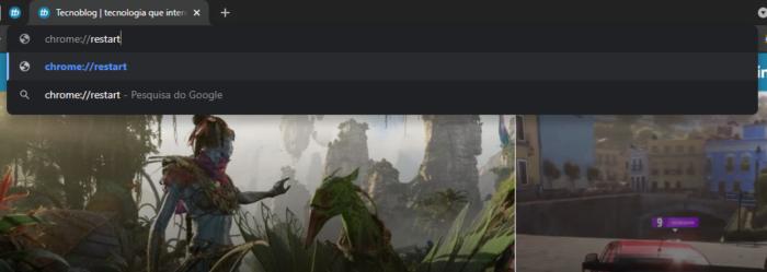É possível reiniciar o Chrome sem perder as guias abertas