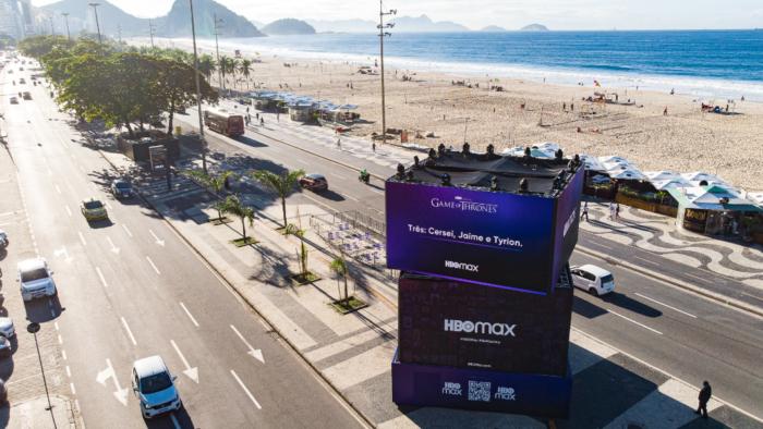 WarnerMedia faz divulgação do HBO Max na Praia de Copacabana, no Rio de Janeiro