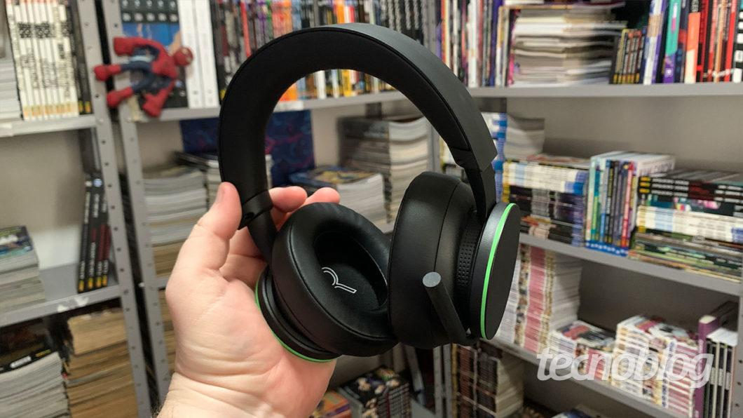 Detalhe do Headset Sem Fio Xbox (Imagem: Felipe Vinha/Tecnoblog)