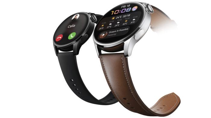 Huawei Watch 3 com HarmonyOS (Imagem: Divulgação/Huawei)