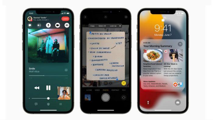 iOS 15 no iPhone (Imagem: Divulgação/Apple)