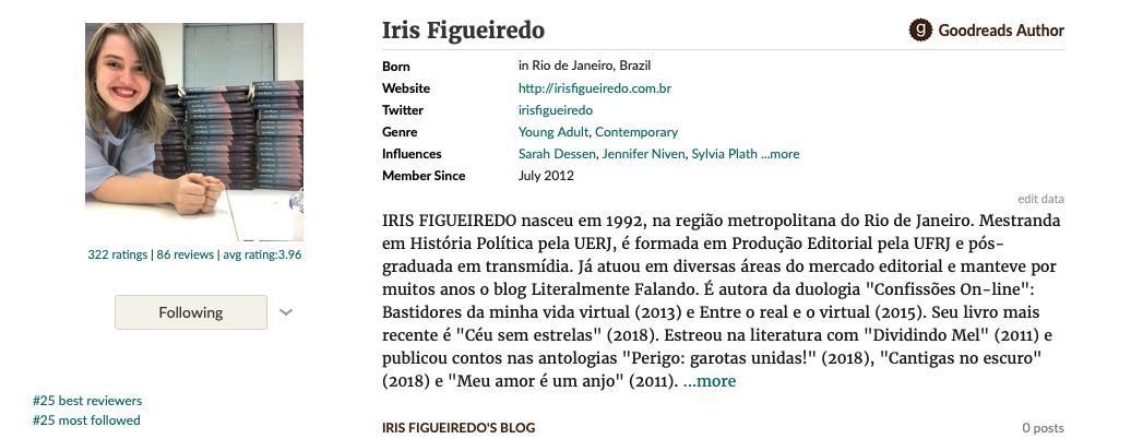 Iris Figueiredo is the author of