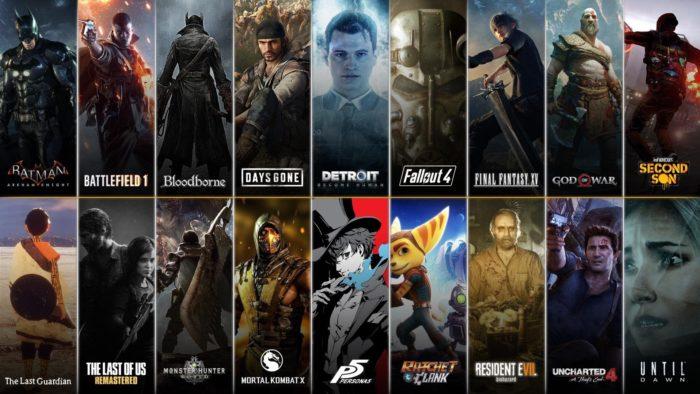 Jogos da PS Plus Collection (Imagem: Divulgação/Sony)
