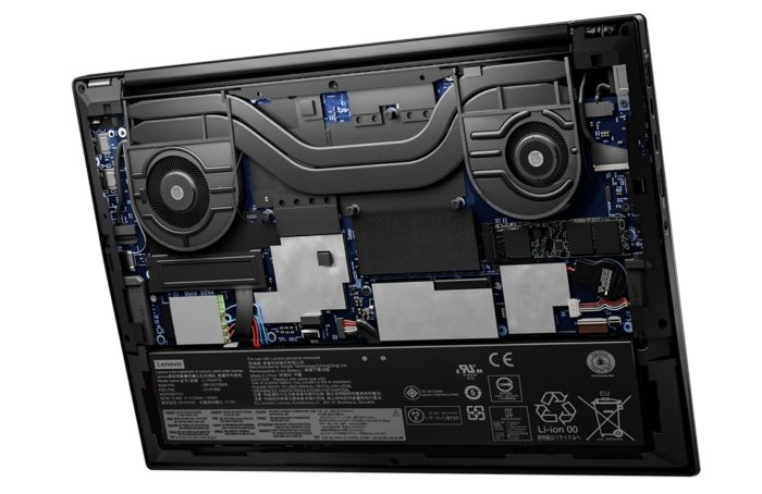 Inside view of the ThinkPad X1 Extreme Gen 4 (image: release/Lenovo)