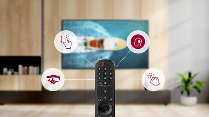 Novo controle remoto LG Magic Remote (Imagem: Divulgação/LG)