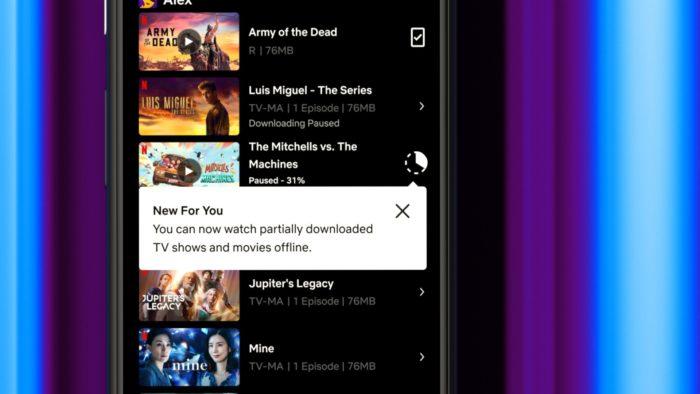 Netflix permite assistir offline (Imagem: Divulgação)