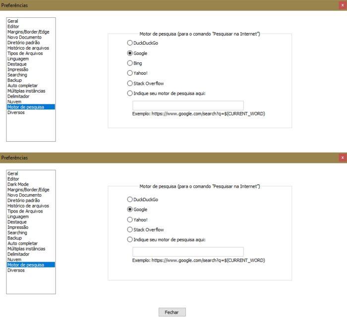 Antes e depois do Notepad++ (imagem: Emerson Alecrim/Tecnoblog)