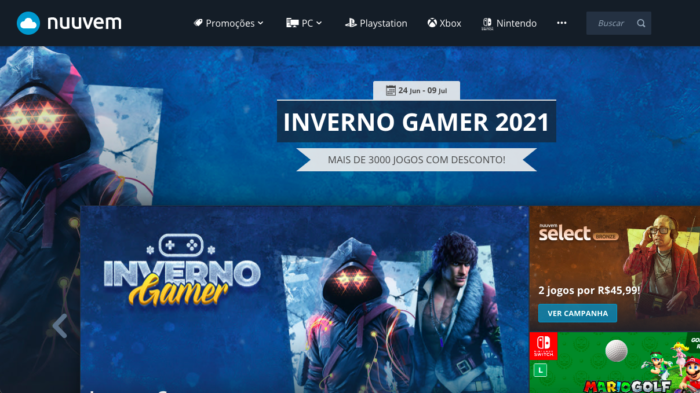 Inverno Gamer começa na Nuuvem (Imagem: Reprodução)