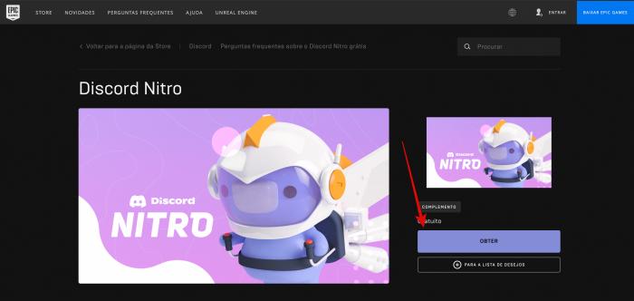 Obter promoção da Epic Games e Discord