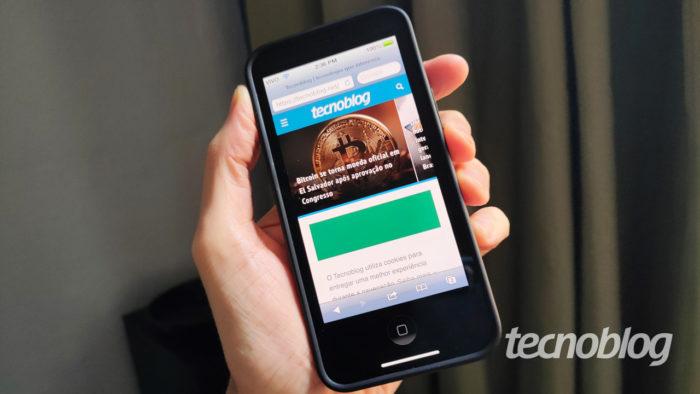 OldOS em um iPhone 12 Mini (imagem: Emerson Alecrim/Tecnoblog)