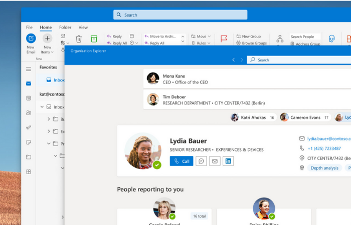 Organization Explorer (Imagem: Reprodução/Microsoft)