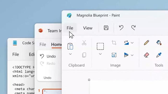 Paint no Windows 11 (Imagem: Reprodução/Microsoft)