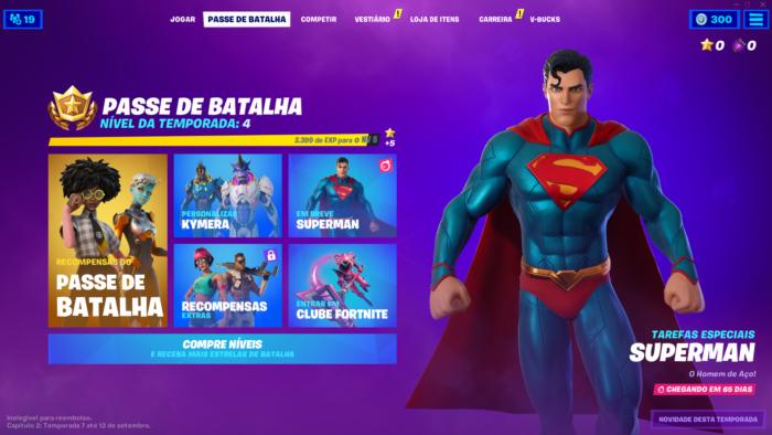 Passe de Batalha de Fortnite agora é em páginas (Imagem: Felipe Vinha/Tecnoblog)