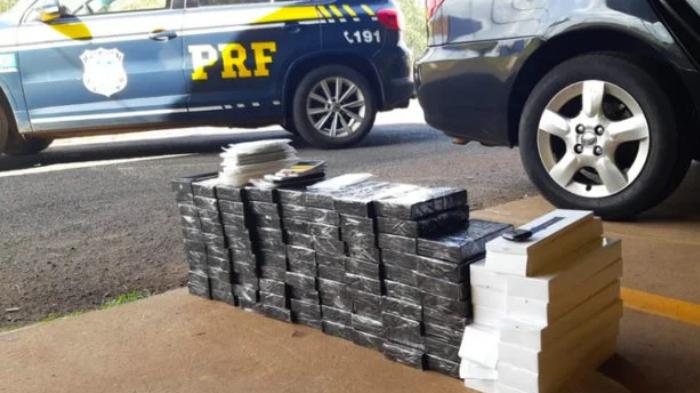 iPhones apreendidos pela Polícia Rodoviária Federal (Imagem: PRF/Divulgação)