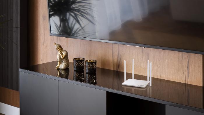 Roteador bem posicionado melhora distribuição do sinal Wi-Fi (Imagem: Divulgação/Positivo)