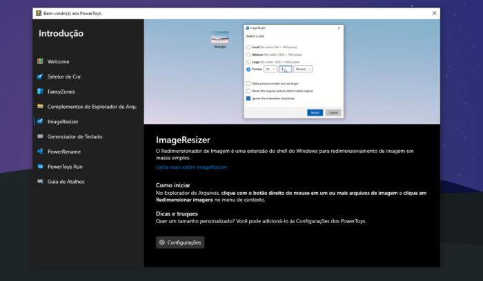 Microsoft PowerToys (Imagem: Reprodução/Windows 10)