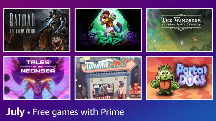 Prime Gaming julho