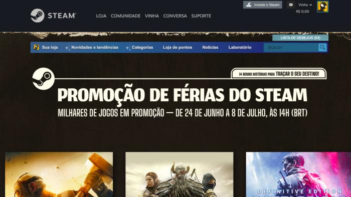 Promoção de Férias no Steam já começou (Imagem: Reprodução)