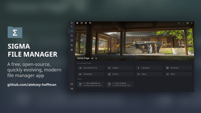 Sigma File Manager (Imagem: Reprodução/Sigma)