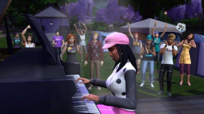 Sims Sessions, festival de música online, começa nessa terça-feira (29) em The Sims 4 (Imagem: Divulgação/EA)