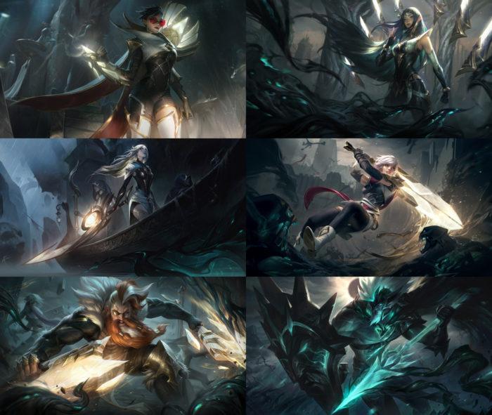 Skins Sentinelas da Luz de League of Legends (Imagem: Divulgação/Riot Games)