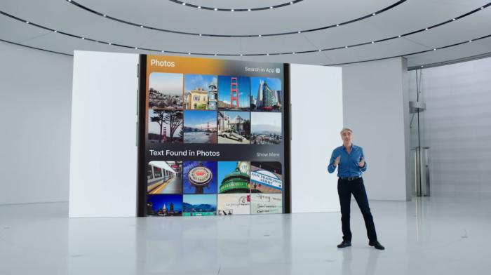 Spotlight permite encontrar texto em imagens no iOS (Imagem: Reprodução/Apple)