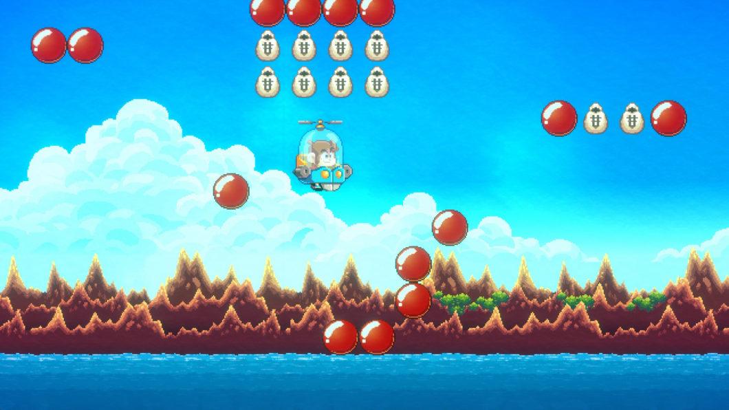 Não tenha medo de usar as vidas infinitas em Alex Kidd in Miracle World DX (Imagem: Divulgação/Merge Games)