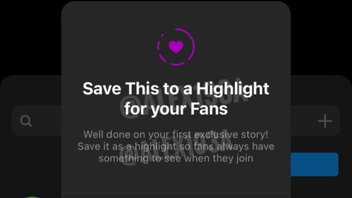 Criadores podem salvar Stories Exclusivos apenas para fãs (Imagem: Alessandro Paluzzi/ Twitter)
