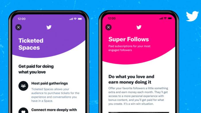 Super follow e ingressos para o Twitter Spaces (Imagem: Twitter/ Divulgação)
