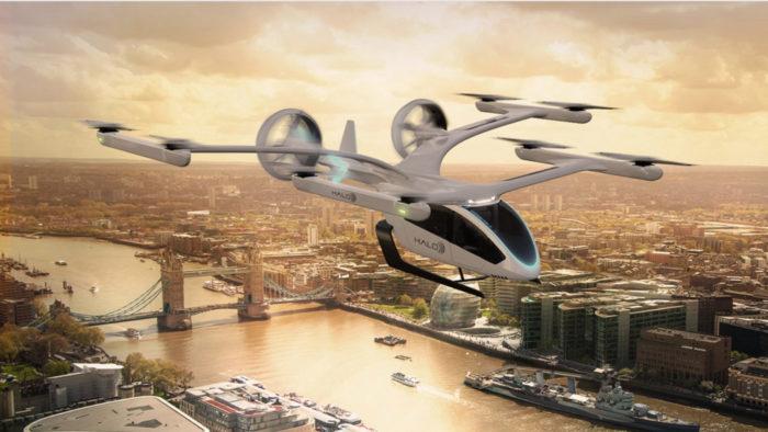 Halo air taxi model (Image: Embraer/Disclosure)